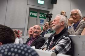 Members of the audience sat in the lecture theatre during the lubbock lecture