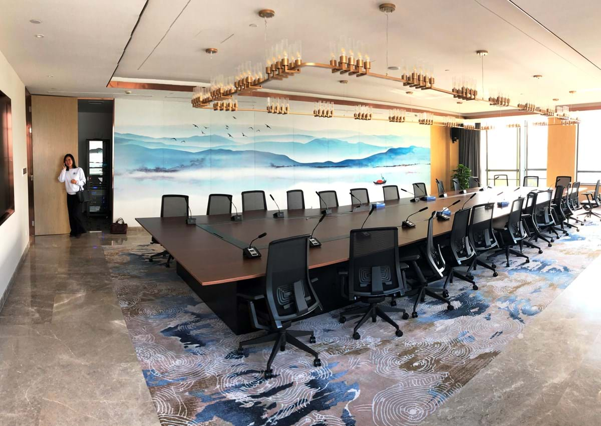 A meeting room inside the Oxford-Suzhou Centre for Advanced Research, known as OSCAR, in Suzhou Industrial Park (SIP) in eastern China