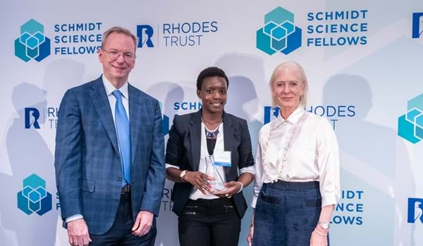 Gladys Ngetich collects award as 2019 Schmidt Science Fellow