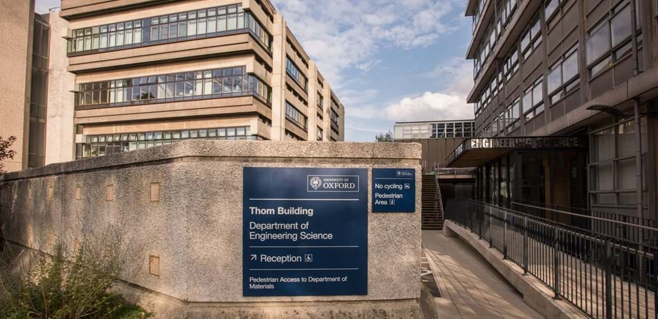 Entrance of the Department of Engineering Science's Thom Building