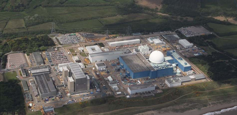 Sizewell B power station from the air