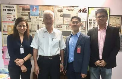 Dr Eleni Iacovidou (Brunel University London), YB Phee Boon Poh (Penang Green Council), Dr Kok Siew Ng (University of Oxford), Mr Tze Howe Ooi (HEYA)