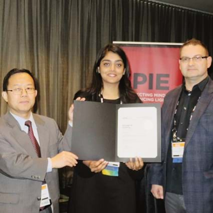 Soumya Gupta receives Runner-up award at SPIE Medical Imaging conference 2020