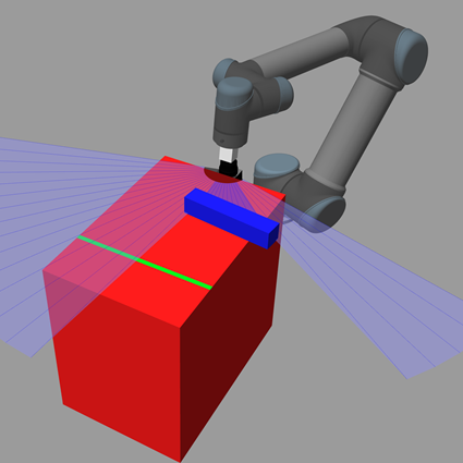 3D computer graphic of robot scanning